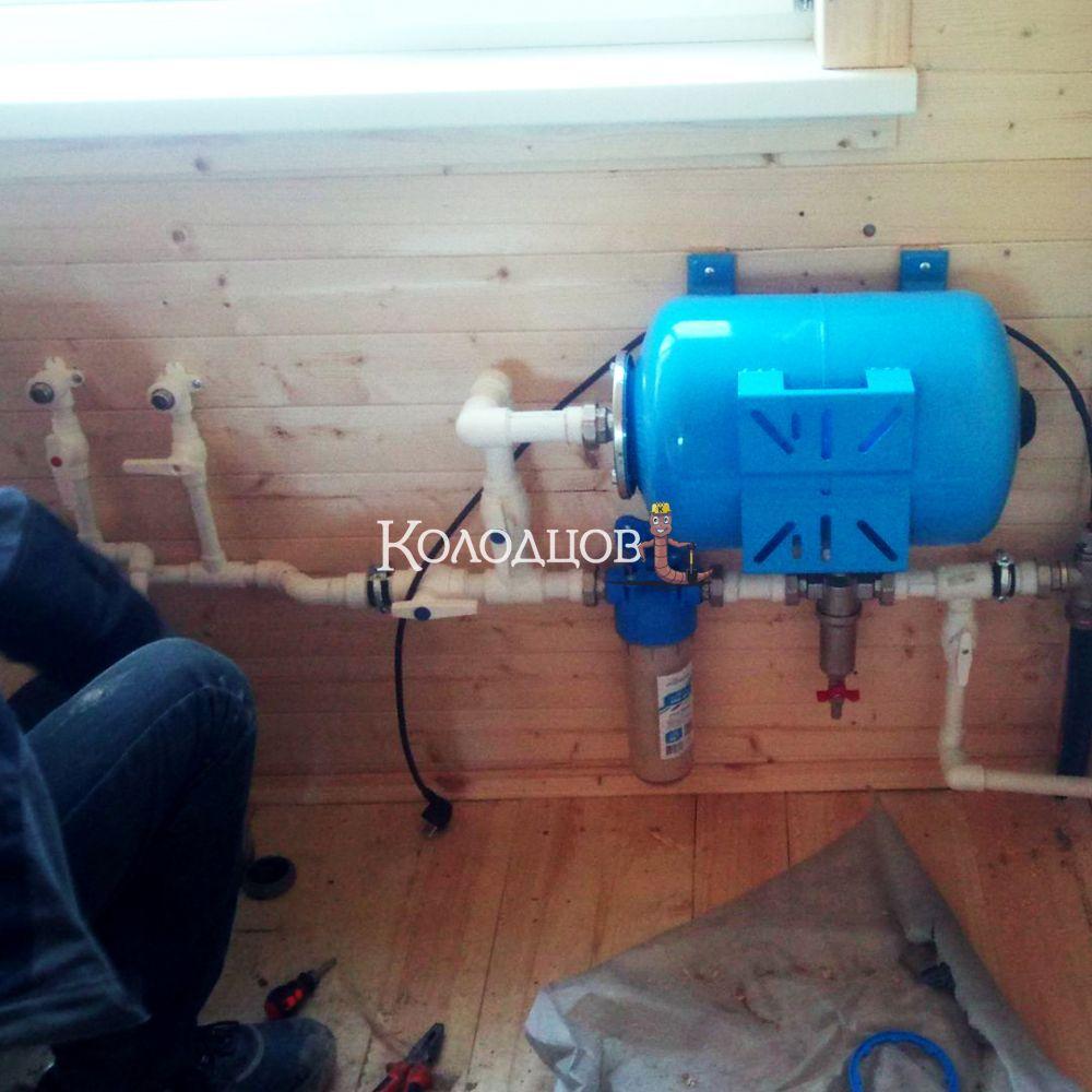 Наши работы: Водоснабжение дома, СНТ Движенец, апрель 2021