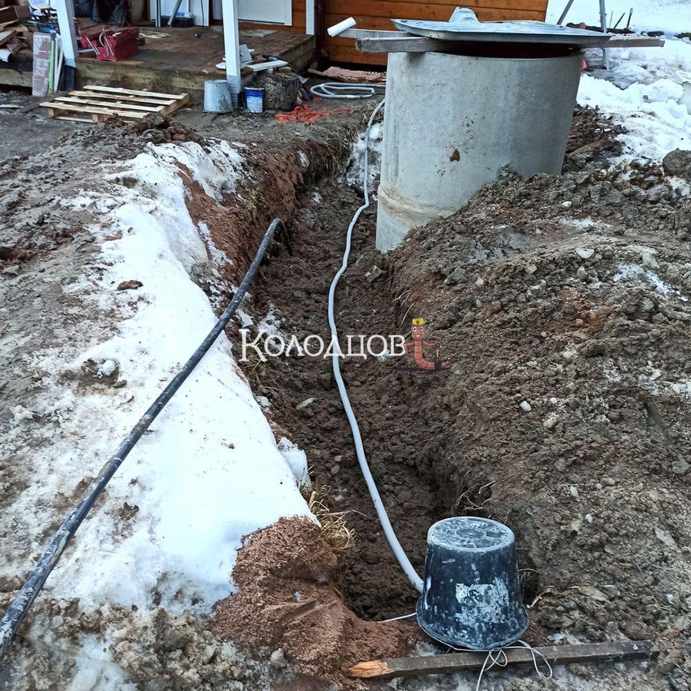 Наши работы: Подвод воды и сборка узла водораспределения, Пальцево, апрель 2021